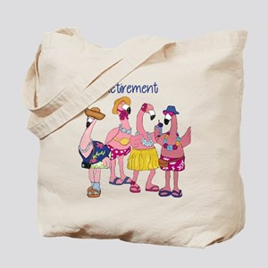 Retired Flamingos Tote Bag