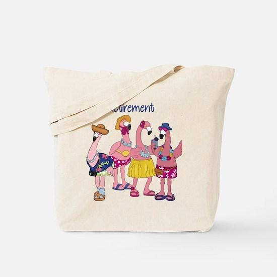 Retired Flamingos Tote Bag