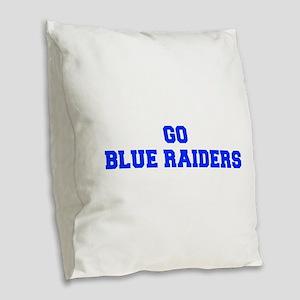 Blue Raiders-Fre blue Burlap Throw Pillow