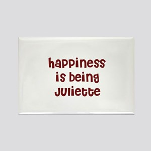 happiness is being Juliette Rectangle Magnet