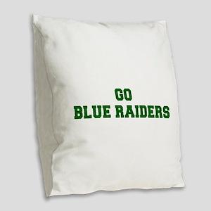 Blue Raiders-Fre dgreen Burlap Throw Pillow