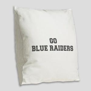 BLUE RAIDERS-Fre gray Burlap Throw Pillow