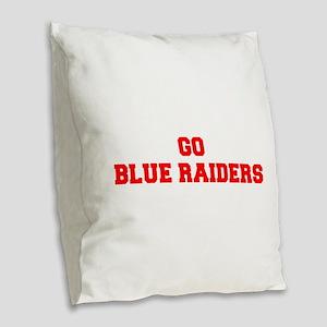 BLUE RAIDERS-Fre red Burlap Throw Pillow