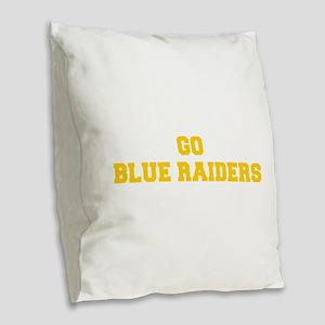 Blue Raiders-Fre yellow gold Burlap Throw Pillow