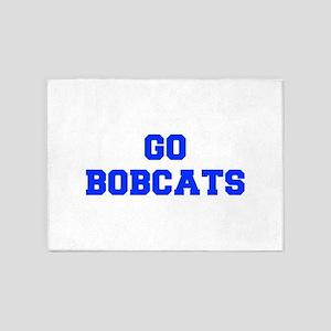 Bobcats-Fre blue 5'x7'Area Rug