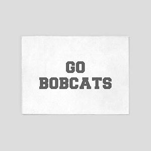 BOBCATS-Fre gray 5'x7'Area Rug
