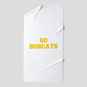 Bobcats-Fre yellow gold Beach Towel