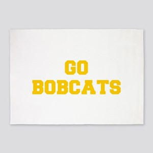 Bobcats-Fre yellow gold 5'x7'Area Rug