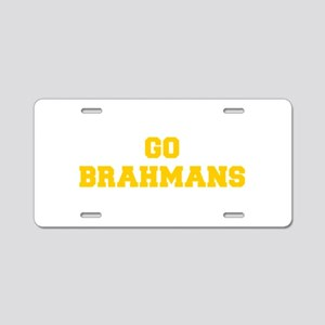 Brahmans-Fre yellow gold Aluminum License Plate