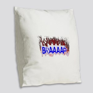 Braaaap Burlap Throw Pillow