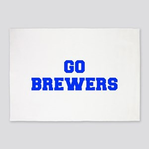 brewers-Fre blue 5'x7'Area Rug