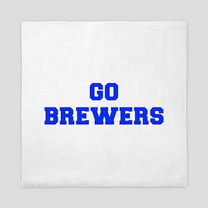 brewers-Fre blue Queen Duvet