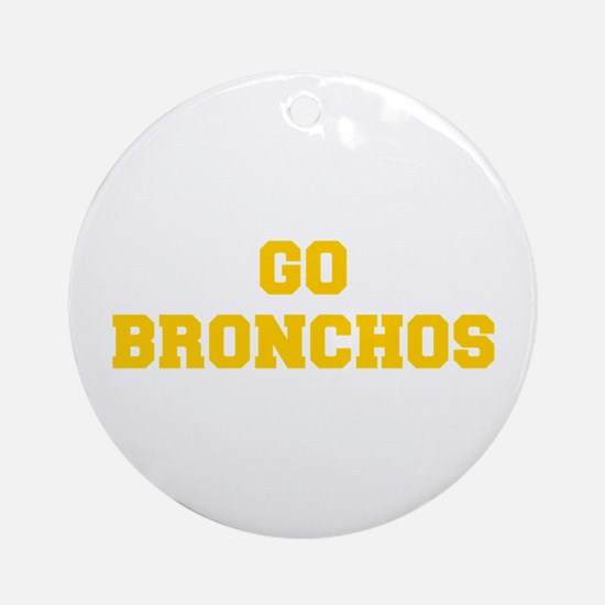 Bronchos-Fre yellow gold Ornament (Round)