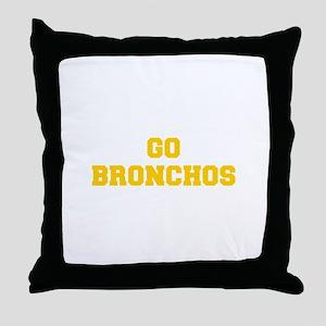 Bronchos-Fre yellow gold Throw Pillow