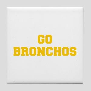 Bronchos-Fre yellow gold Tile Coaster