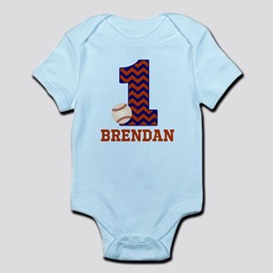 First Birthday Baseball Body Suit