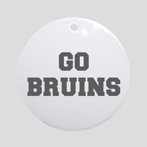 BRUINS-Fre gray Ornament (Round)