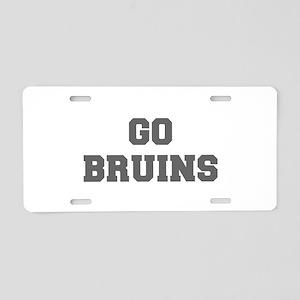 BRUINS-Fre gray Aluminum License Plate