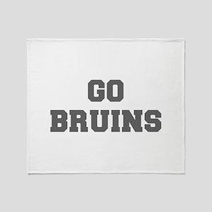 BRUINS-Fre gray Throw Blanket