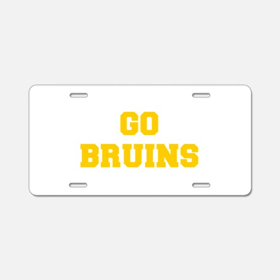 Bruins-Fre yellow gold Aluminum License Plate