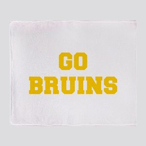 Bruins-Fre yellow gold Throw Blanket