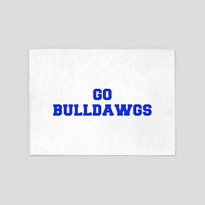 Bulldawgs-Fre blue 5'x7'Area Rug