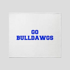 Bulldawgs-Fre blue Throw Blanket