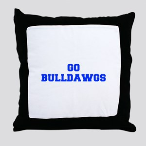 Bulldawgs-Fre blue Throw Pillow