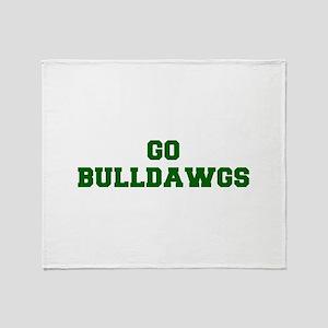 Bulldawgs-Fre dgreen Throw Blanket
