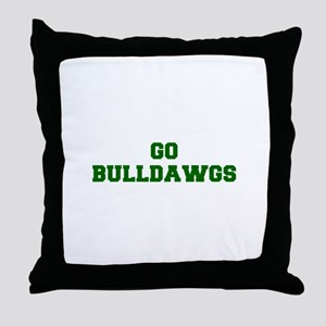 Bulldawgs-Fre dgreen Throw Pillow