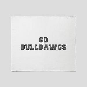 BULLDAWGS-Fre gray Throw Blanket