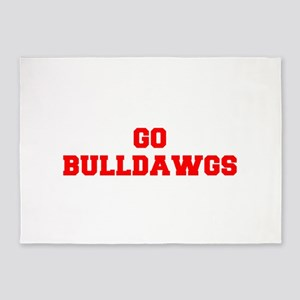 BULLDAWGS-Fre red 5'x7'Area Rug