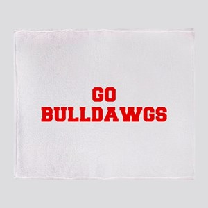 BULLDAWGS-Fre red Throw Blanket