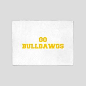 Bulldawgs-Fre yellow gold 5'x7'Area Rug