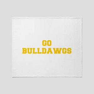 Bulldawgs-Fre yellow gold Throw Blanket