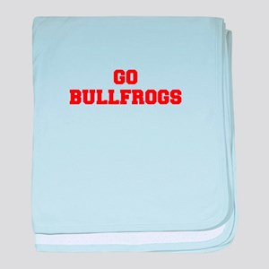 BULLFROGS-Fre red baby blanket