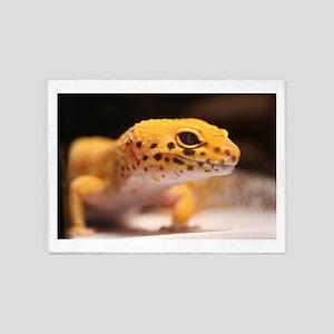 Mandarin Leopard Gecko 5'x7'Area Rug