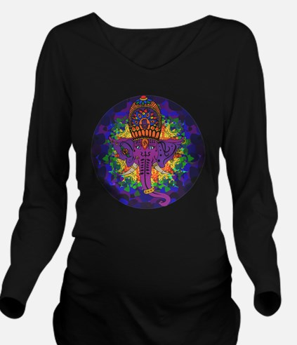 Psychedelic Ganesh Long Sleeve Maternity T-Shirt