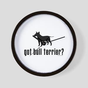 got bull terrier? Wall Clock