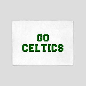 Celtics-Fre dgreen 5'x7'Area Rug