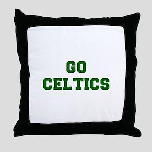 Celtics-Fre dgreen Throw Pillow
