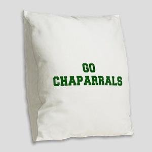 Chaparrals-Fre dgreen Burlap Throw Pillow