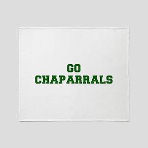 Chaparrals-Fre dgreen Throw Blanket