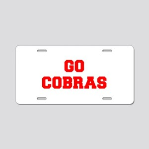 COBRAS-Fre red Aluminum License Plate