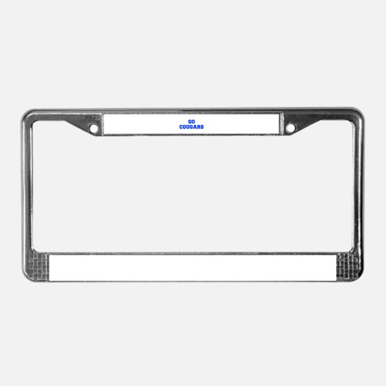 Cougars-Fre blue License Plate Frame