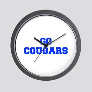 Cougars-Fre blue Wall Clock