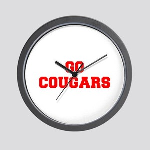 COUGARS-Fre red Wall Clock