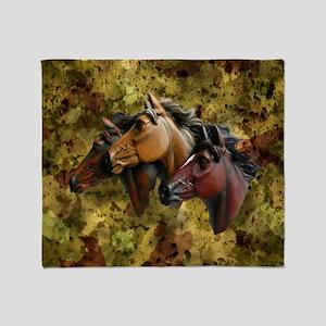 Horse Trio Throw Blanket