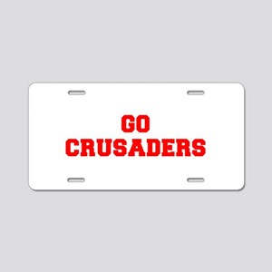 CRUSADERS-Fre red Aluminum License Plate