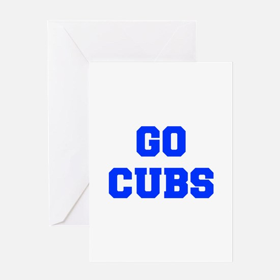 Cubs-Fre blue Greeting Cards